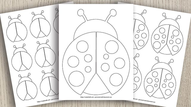9 Free Printable Ladybug Templates (cute for homemade Valentines!)
