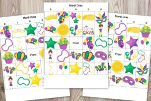 Family-Friendly Printable Mardi Gras Bingo