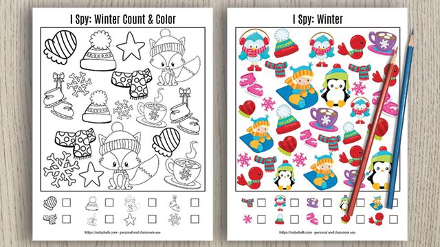 Winter I Spy Printable
