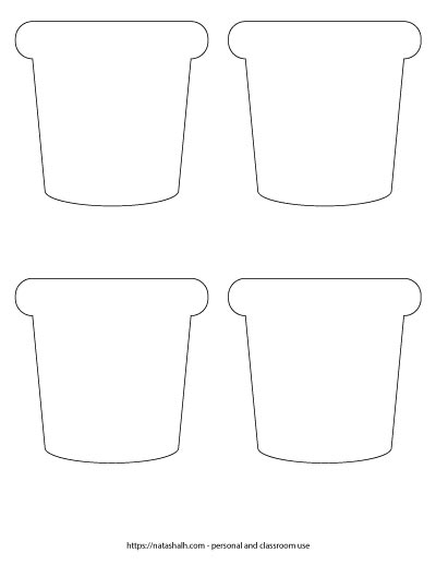 printable flower pot shapes