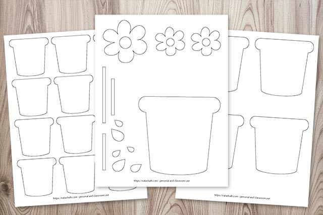 Free Printable Flower Pot Templates (for adorable Mother's Day crafts)