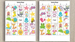 Free Printable Spring Bingo (perfect for spring flings!)