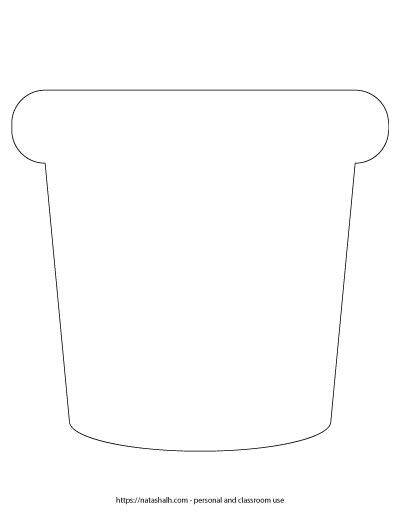 large flower pot template - natashalh.com