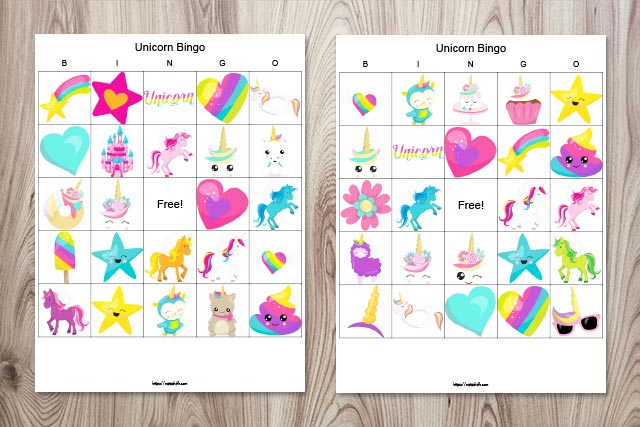 Fabulous Printable Unicorn Bingo (for an awesome unicorn party)