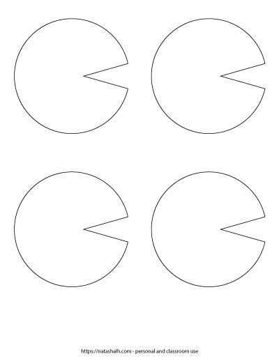 Four medium lily pad templates to print and cut