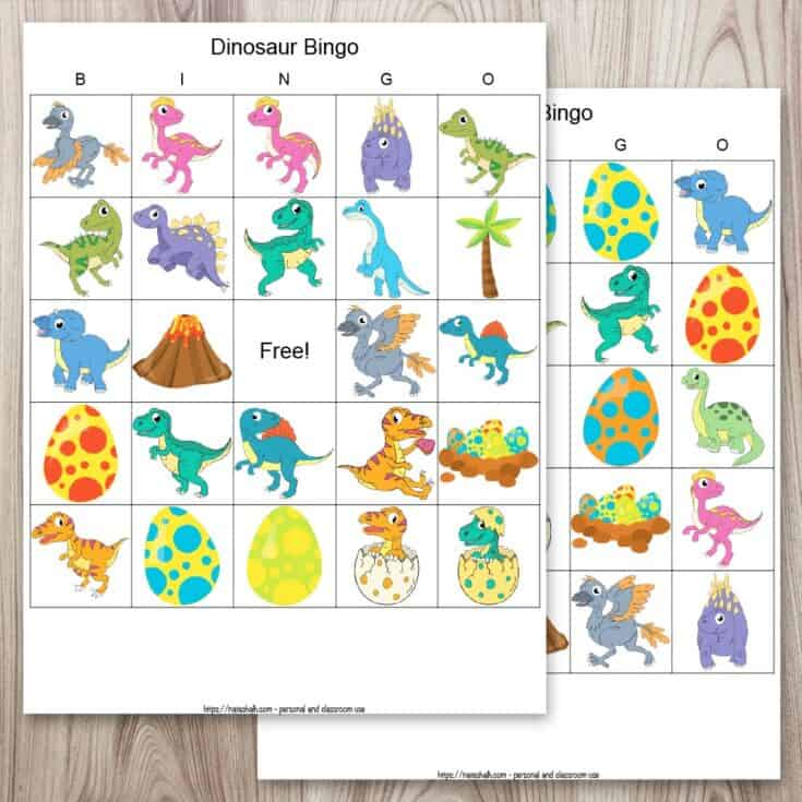 Free Printable Dinosaur Bingo (for a roaring good time)