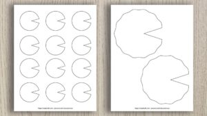 Free Printable Lily Pad Templates (for spring crafts)