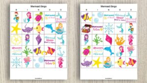 Free Printable Mermaid Bingo (Fun & easy mermaid party activity!)
