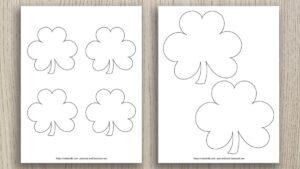 Free Printable Shamrock Templates (includes green shamrocks!)