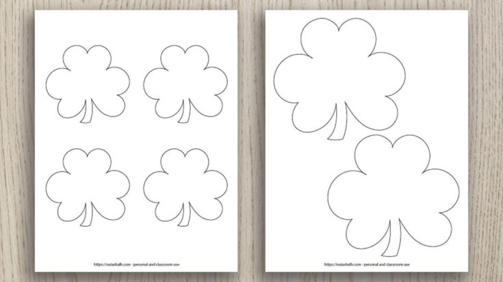 Free Printable Shamrock Templates (includes green shamrocks!)