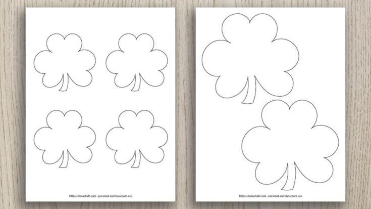 Free Printable Shamrock Templates (includes Green Shamrocks!) - The Artisan  Life