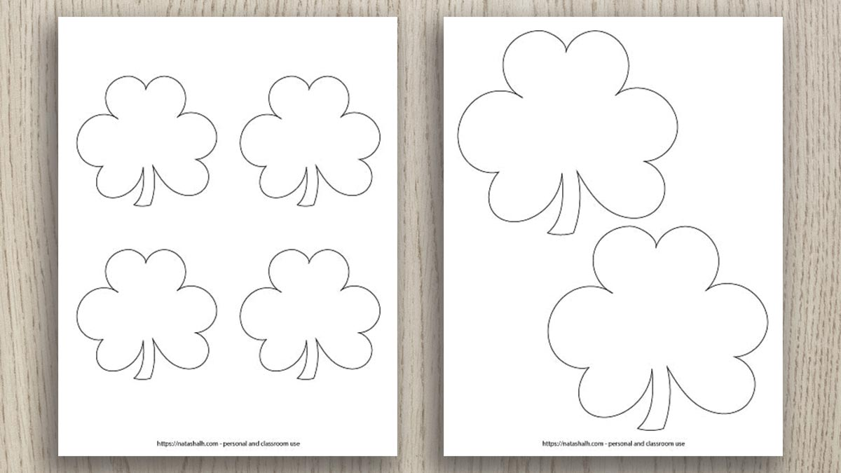 - Free Printable Shamrock Templates (includes Green Shamrocks