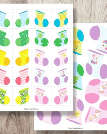 free printable sock matching game for kids