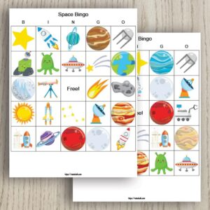 Free Printable Space Bingo (for out of this world fun)