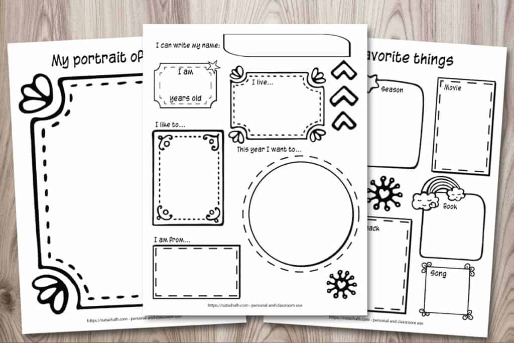 3 Free All About Me Printables Icebreaker Activity For Back To School The Artisan Life