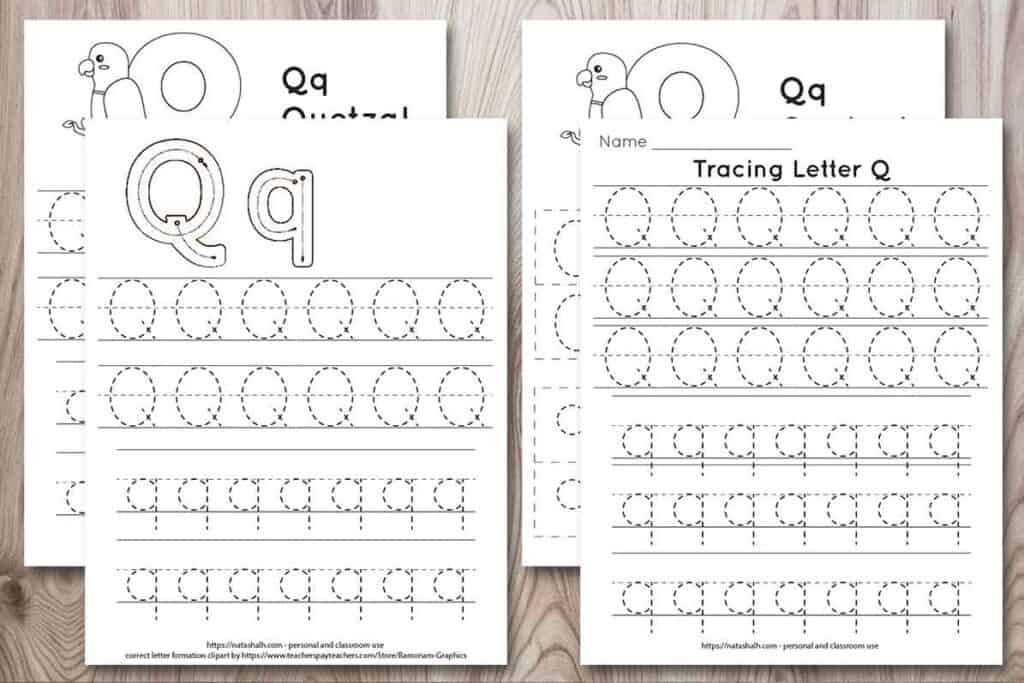 Free Printable Letter Q Tracing Worksheet Q Is For Quetzal The Artisan Life