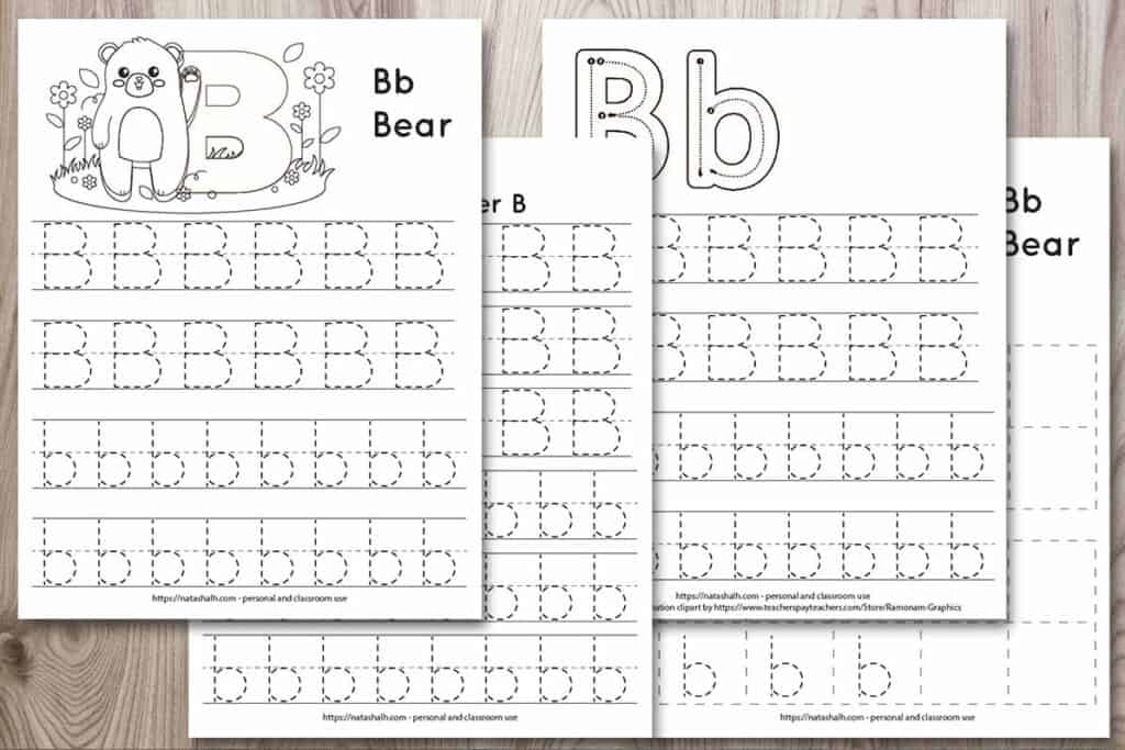 Free Printable Letter B Tracing Worksheets - The Artisan Life