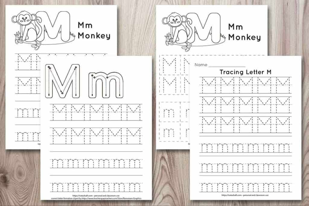 Free Printable Letter M Tracing Worksheet (M Is For Monkey) - The Artisan  Life