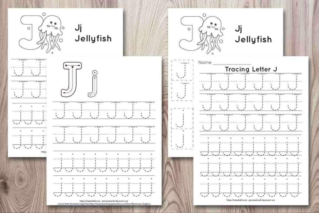 Free Printable Letter J Tracing Worksheets (J Is For Jellyfish) - The  Artisan Life