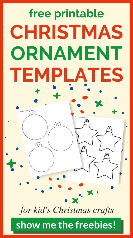 13 Free Printable Christmas Ornament Templates The Artisan Life