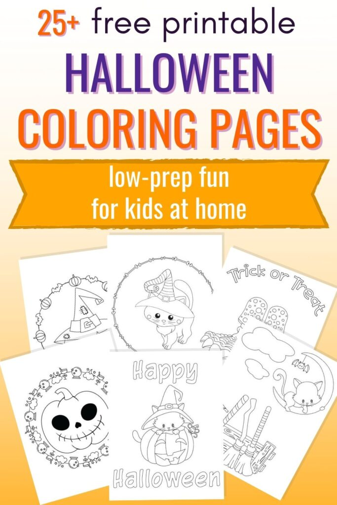 25+ Free Printable Halloween Coloring Pages - The Artisan Life