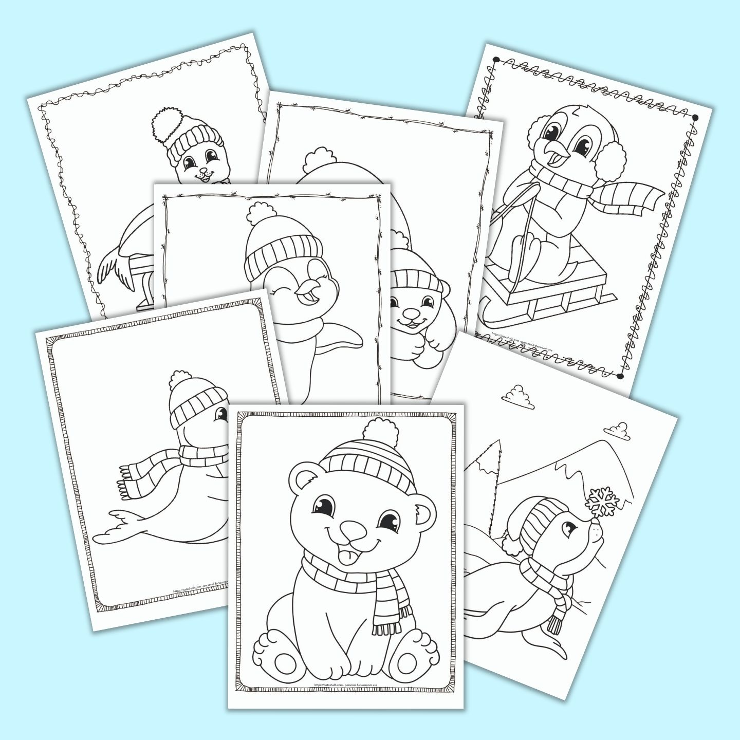 20 Free Printable Winter Animal Coloring Pages For Kids The Artisan Life