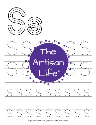 letter s tracing printable