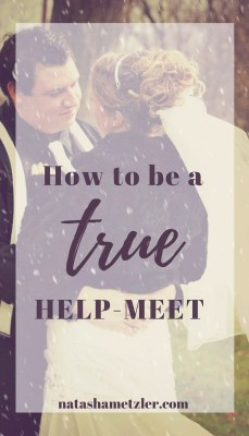 how to be a true Helpmeet