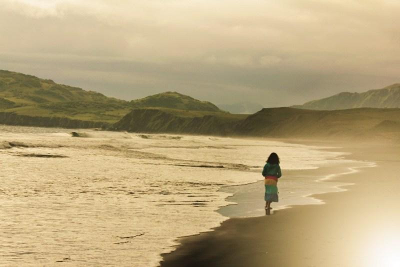 Lizbeth on the beach in Kodiak