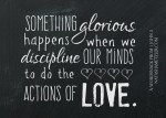 doing the actions of love // a WordSnack from I John 3