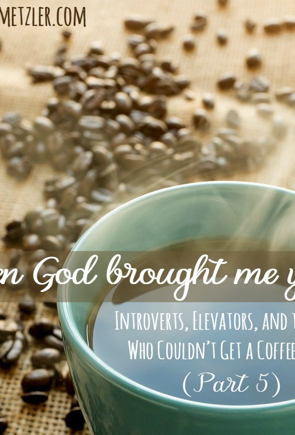 When God Brought Me You: Introverts, Elevators, and the Girl Who Couldn't Get a Coffee Date (part 5)