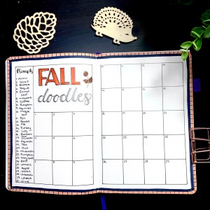 Fall Doodles Layout
