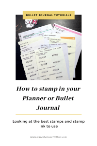 Planner stamping
