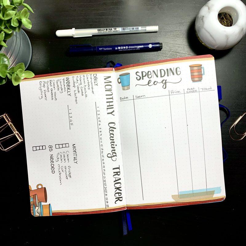 Teacup Bullet Journal Setup Printables