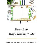 Busy Bee Bullet Journal Setup
