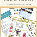 3 Tips for Using Watercolour in a Bullet Journal