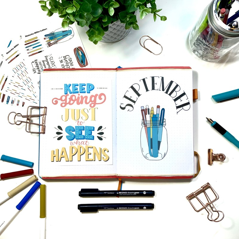 Pen and Pencil Bullet Journal Setup