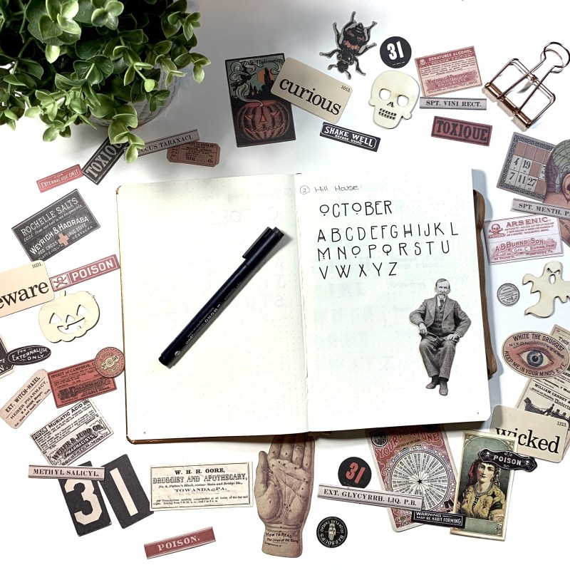 3 lettering ideas for Halloween