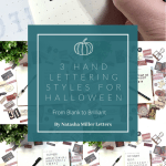 Three lettering ideas for Halloween