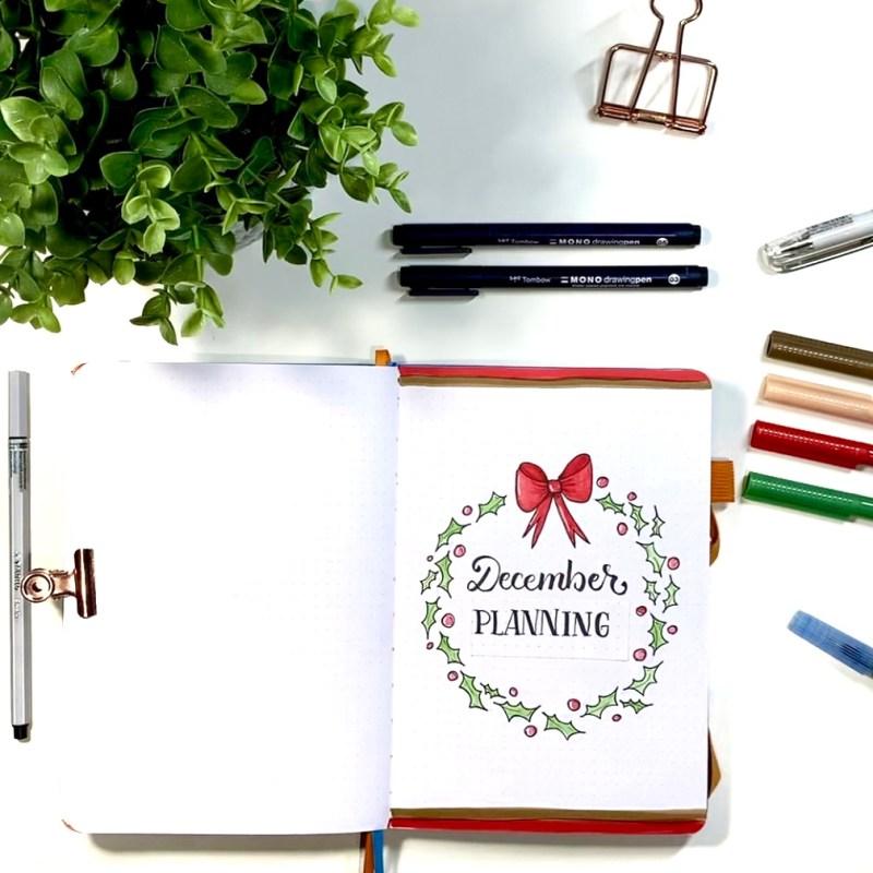 Bullet Journal Holiday Planner