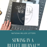 Sewing in a Bullet Journal