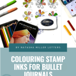 Coloring Stamp Inks for Bullet Journaling