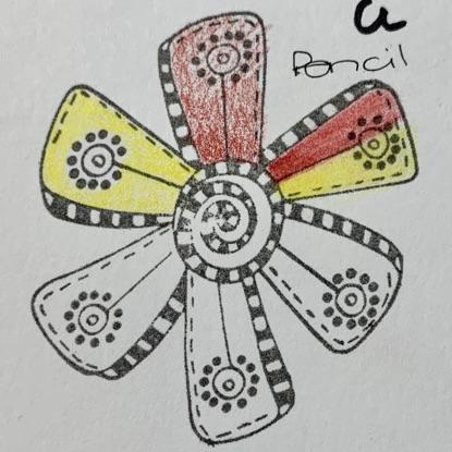 Pencil Colours on VersaFine Clair Pigment Ink