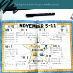 Weekly Bullet Journal Layout Inspiration