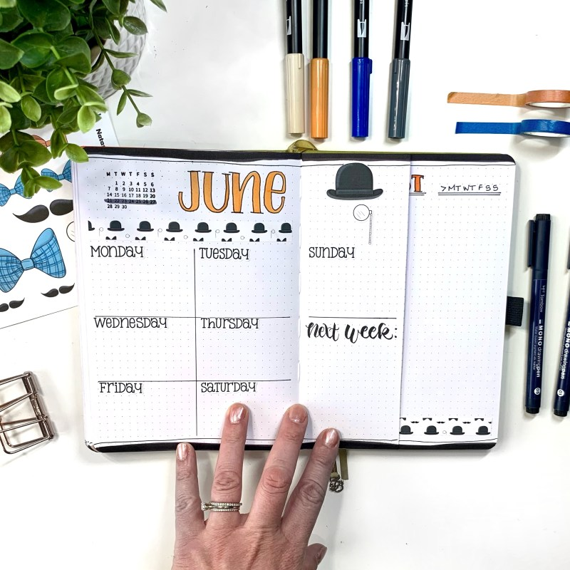 Horizontal Bullet Journal Layout Ideas