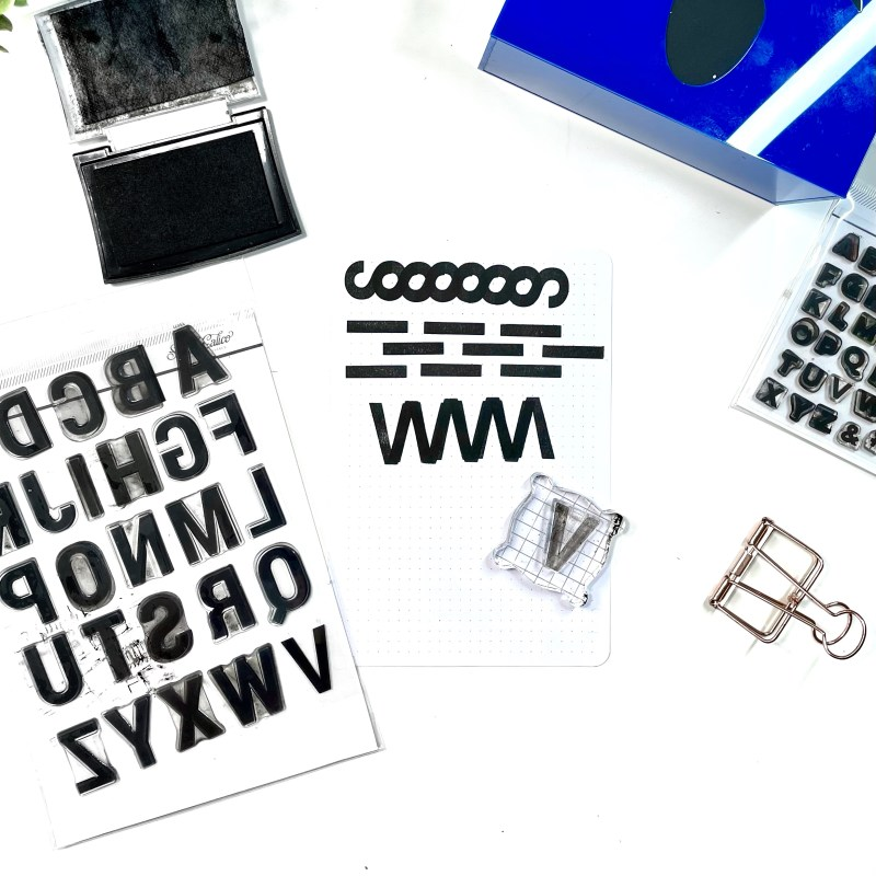 Alphabet Stamps as backgrounds, patterns, and borders