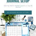 August Shark Theme Bullet Journal Setup