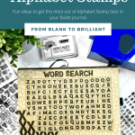 3 Ways to Use Alphabet Stamps in a Bullet Journal