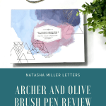 Archer and Olive Calliograph Review