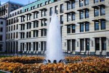 A fountain close to the Brandenburg Gates